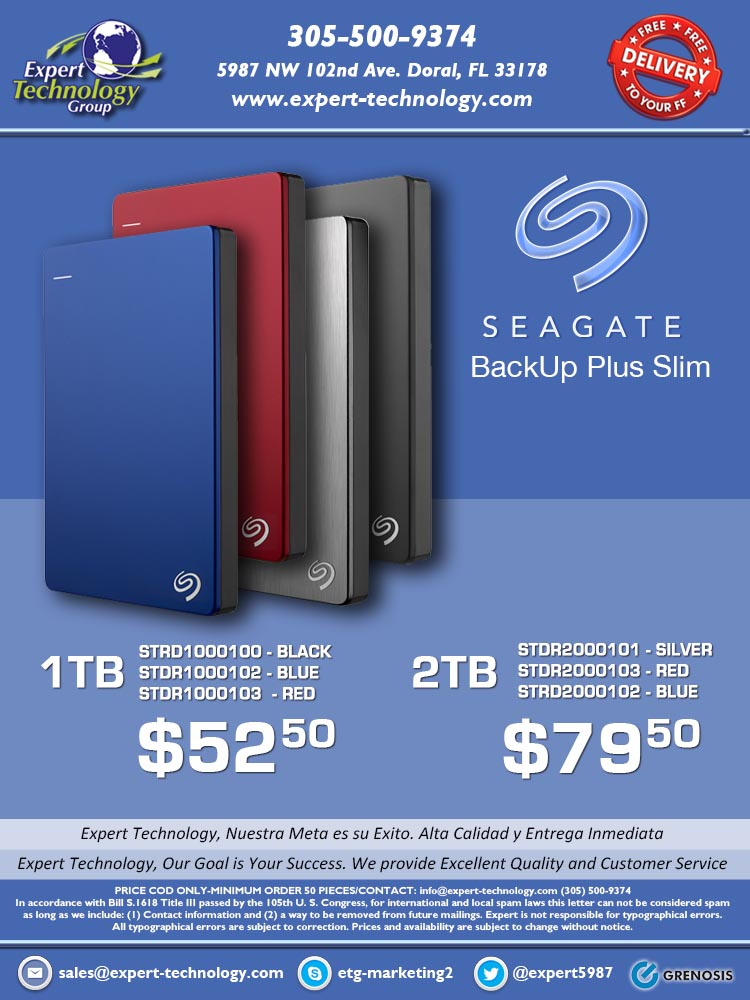 Seagate Backup Plus Slim Hdd Expert Technology
