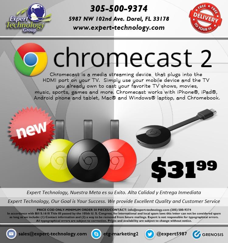 Google Chromecast 2 Media Player – Expert Technology
