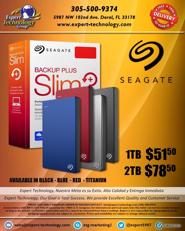Seagate Backup Plus Slim Hdd 1tb 2tb Expert Technology